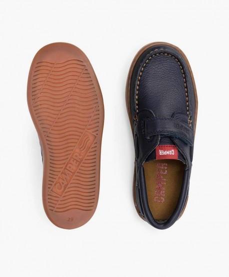 Zapatos Casual CAMPER Azul Marino con Velcro para Niño 3 en Kolekole