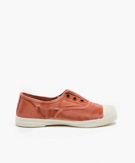 Zapatillas Eco NATURAL WORLD Lona Naranja Niña y Niño 3 en Kolekole