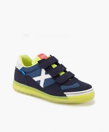 Zapatillas MUNICH Azul y Amarilla para Niños 0 en Kolekole