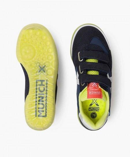 Zapatillas MUNICH Azul Suela Amarilla Niña y Niño