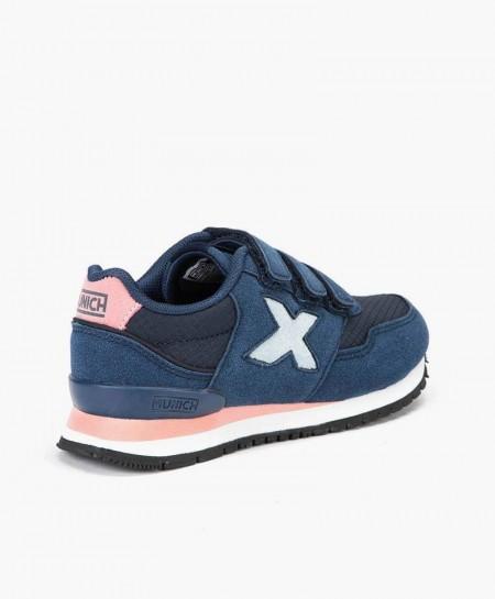 Sneakers MUNICH Azules Dash Niña y Niño