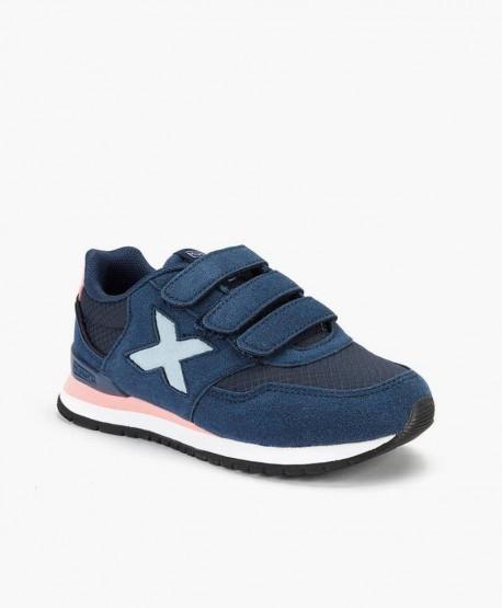 Munich Sneaker Azul Dash Velcro en Kolekole
