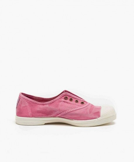 Zapatillas Eco NATURAL WORLD Lona Rosa Chica y Chico 3 en Kolekole