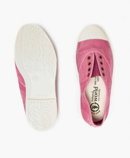 Zapatillas Eco NATURAL WORLD Lona Rosa Chica y Chico 0