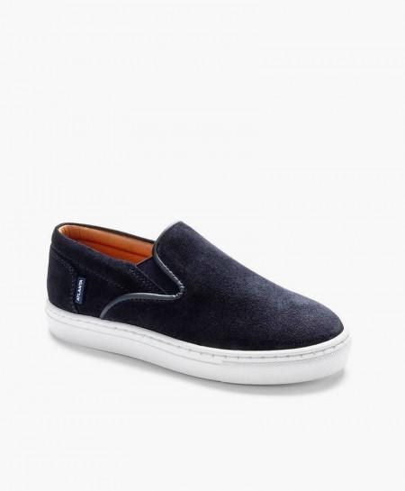 Zapatos Sport ATLANTA MOCASSIN Azul Marino de Piel para Chicos