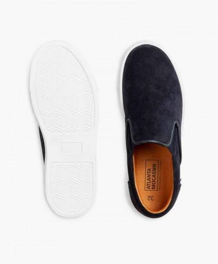 Zapatos Sport ATLANTA MOCASSIN Azul Marino Piel Chico