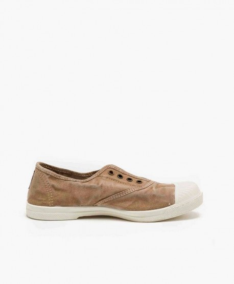 Zapatillas Eco NATURAL WORLD Lona Beige Chica y Chico 3 en Kolekole