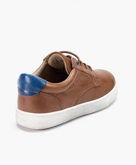 Zapatos Sneakers TELYOH Marrones de Piel para Chico en Kolekole