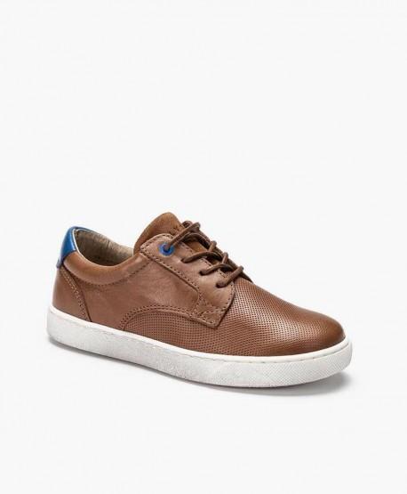 Zapatos Sneakers TELYOH Marrones de Piel para Chico 0 en Kolekole