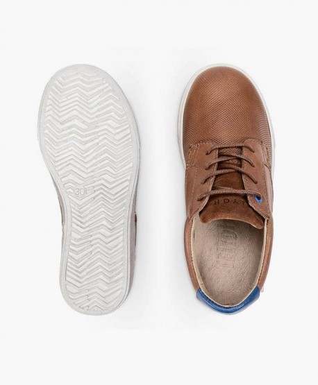 Zapatos Sneakers TELYOH Marrones de Piel para Chico 3 en Kolekole
