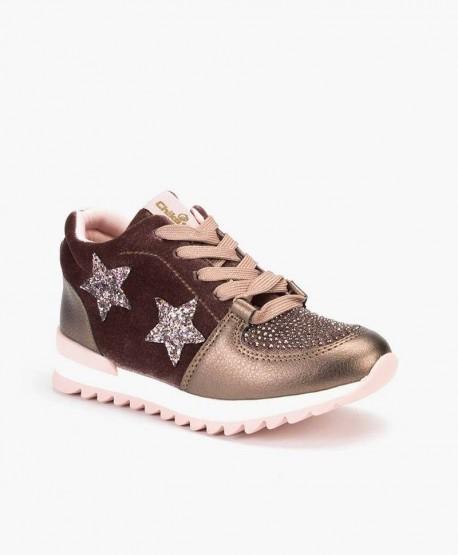Chika10 Sneaker Estrellas Rosa Chica en Kolekole