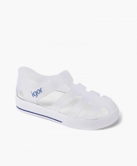 Sandalias Cangrejeras IGOR Sport Blanca para Niños