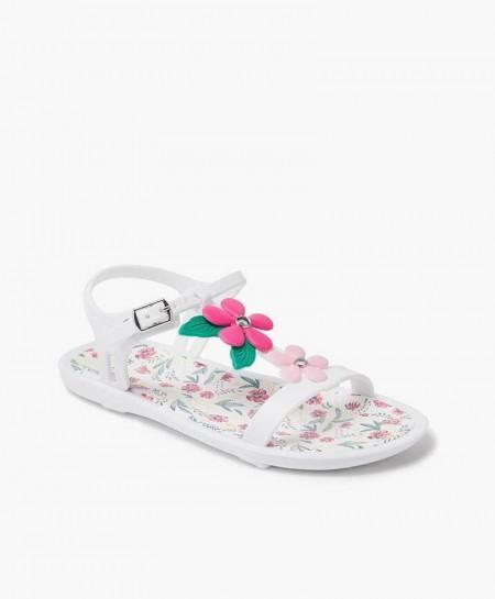 Sandalias Florales IGOR Blancas para Niña y Chica