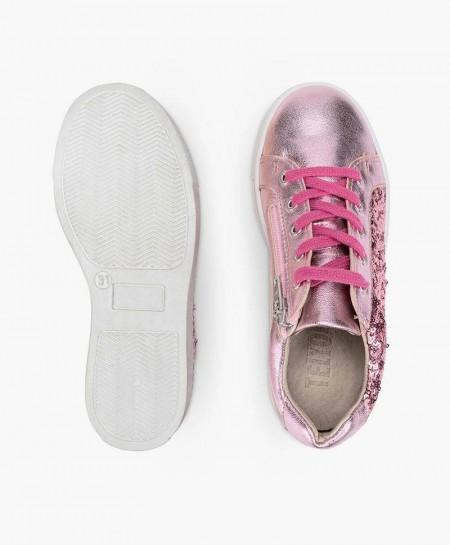 Sneakers TELYOH Rosa de Piel para Chica y Mujer