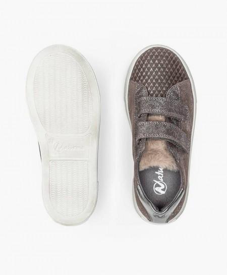 Sneakers NATURINO Marrón y Flores para Chica y Mujer