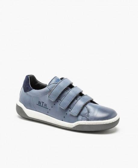 Naturino Sneaker Azul Velcro Piel Jóvenes en Kolekole