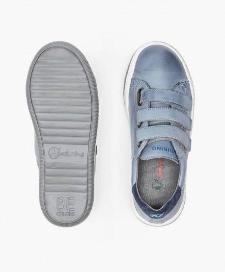 Sneakers NATURINO Azul de Piel para Chicos 3 en Kolekole