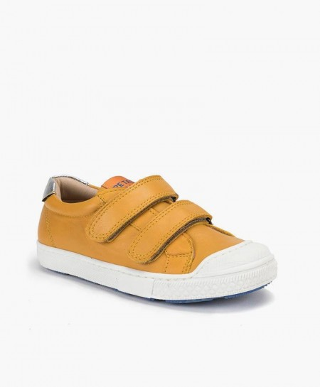 Petasil Zapato Sport Camel Velcro Piel