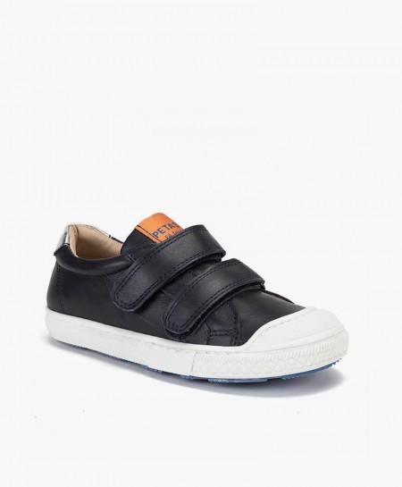 Zapatos Sport PETASIL Azul Marino Velcro Piel Niña y Niño