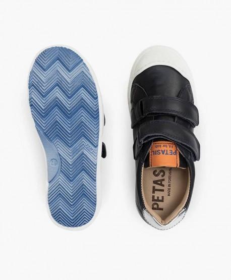 Petasil Zapato Sport Azul Marino Velcro Piel en Kolekole