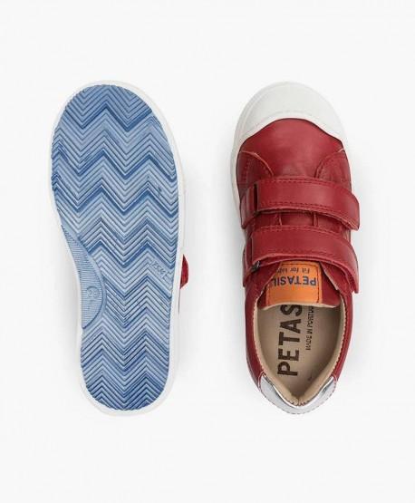 Zapatos Sport PETASIL Rojos Piel Niña y Niño 3 en Kolekole