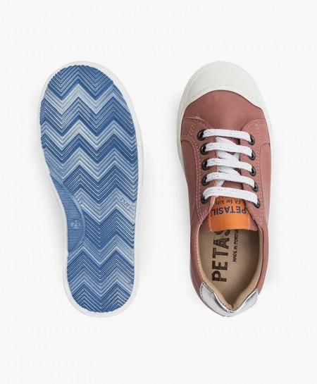 Zapatos Sport PETASIL Rosa Palo Piel Niña y Niño
