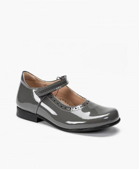 Zapatos de Charol PETASIL Gris de Piel para Chica