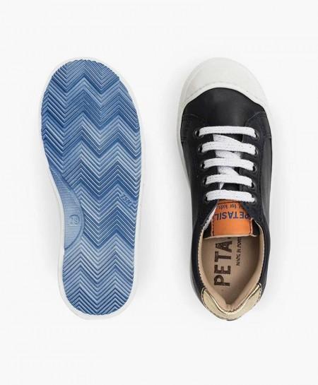 Zapatos Sport PETASIL Azul Marino Piel Chica y Chico