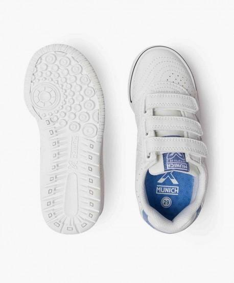 Zapatillas MUNICH Blancas para Niños 3 en Kolekole
