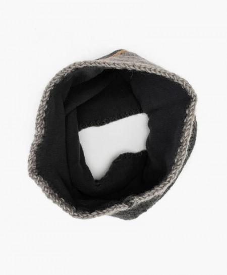 Cuello Infantil Gris Carbón