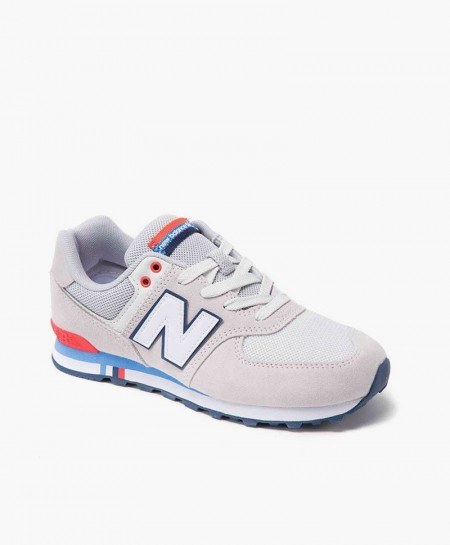 New Balance Zapatilla Gris Claro Lifestyle Junior