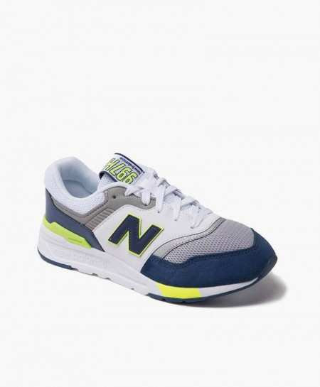 New Balance Zapatilla Gris Azul Verde Lifestyle Junior