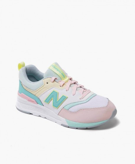 New Balance Zapatilla Gris Rosa Verde Lifestyle Chica