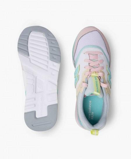Zapatillas NEW BALANCE Gris Rosa Verde para Chica y Mujer