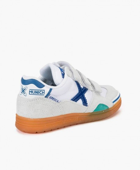 Zapatillas MUNICH Blancas Gresca Niña y Niño 0