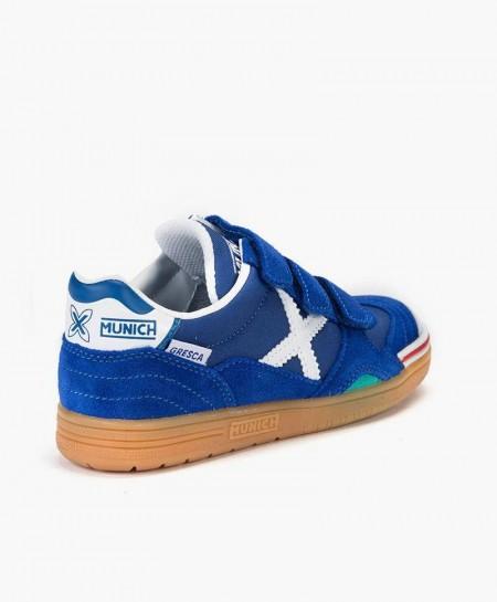 Zapatillas MUNICH Azules Gresca Niña y Niño