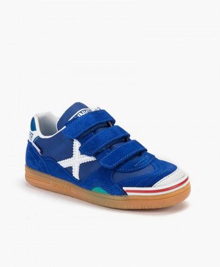 Zapatillas MUNICH Azules Gresca para Niños 0 en Kolekole