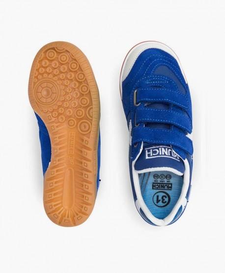 Munich Zapatilla Azul Gresca Velcro en Kolekole