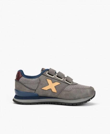 Sneakers MUNICH Gris Dash Niña y Niño 3 en Kolekole