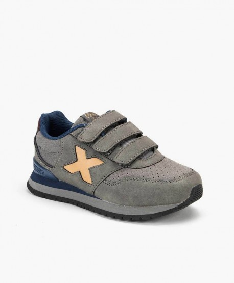 Sneakers MUNICH Gris Dash Niña y Niño 0 en Kolekole