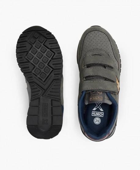 Munich Sneaker Dash Gris Velcro en Kolekole