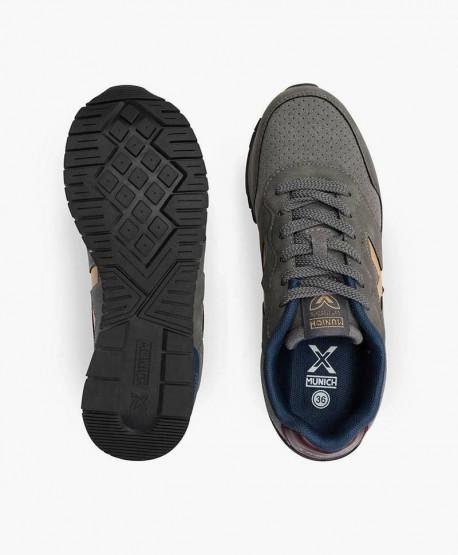 Munich Sneaker Gris Cordones Jóvenes en Kolekole