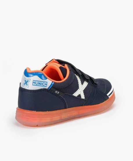 Zapatillas MUNICH Azul Marino G3 Glow Niña y Niño 0 en Kolekole