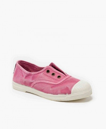 Zapatillas NATURAL WORLD de Lona Rosa para Niños