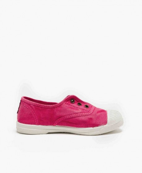 Zapatillas Eco NATURAL WORLD Lona Rosa Vivo Niña y Niño 3 en Kolekole