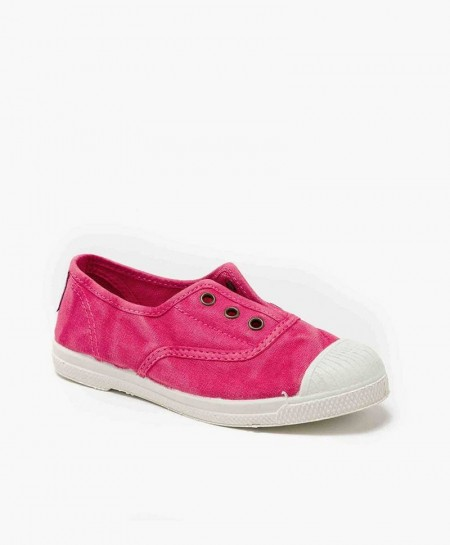 Zapatillas NATURAL WORLD de Lona Rosa Vivo para Niños