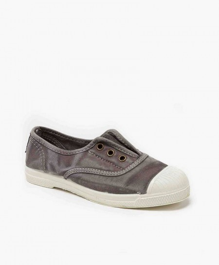 Zapatillas NATURAL WORLD de Lona Gris para Niños