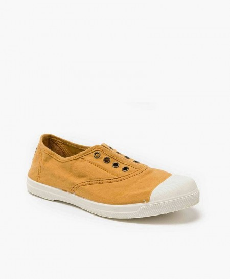 Zapatillas NATURAL WORLD de Lona Color Lino para Chicos