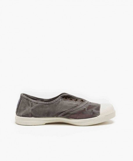 Zapatillas Eco NATURAL WORLD Lona Gris Chica y Chico 3 en Kolekole