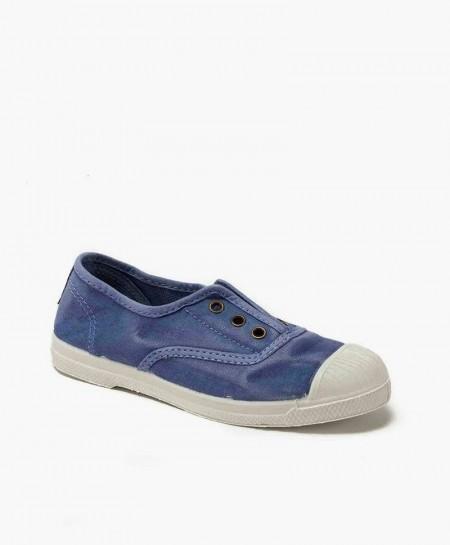 Zapatillas NATURAL WORLD Inglés Lona Azul Celeste para Niños
